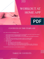 Workout at Home App Pitch Deck by Slidesgo