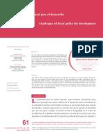 Retos de política fiscal para el desarrollo - Moreno- Brid et al, 2019