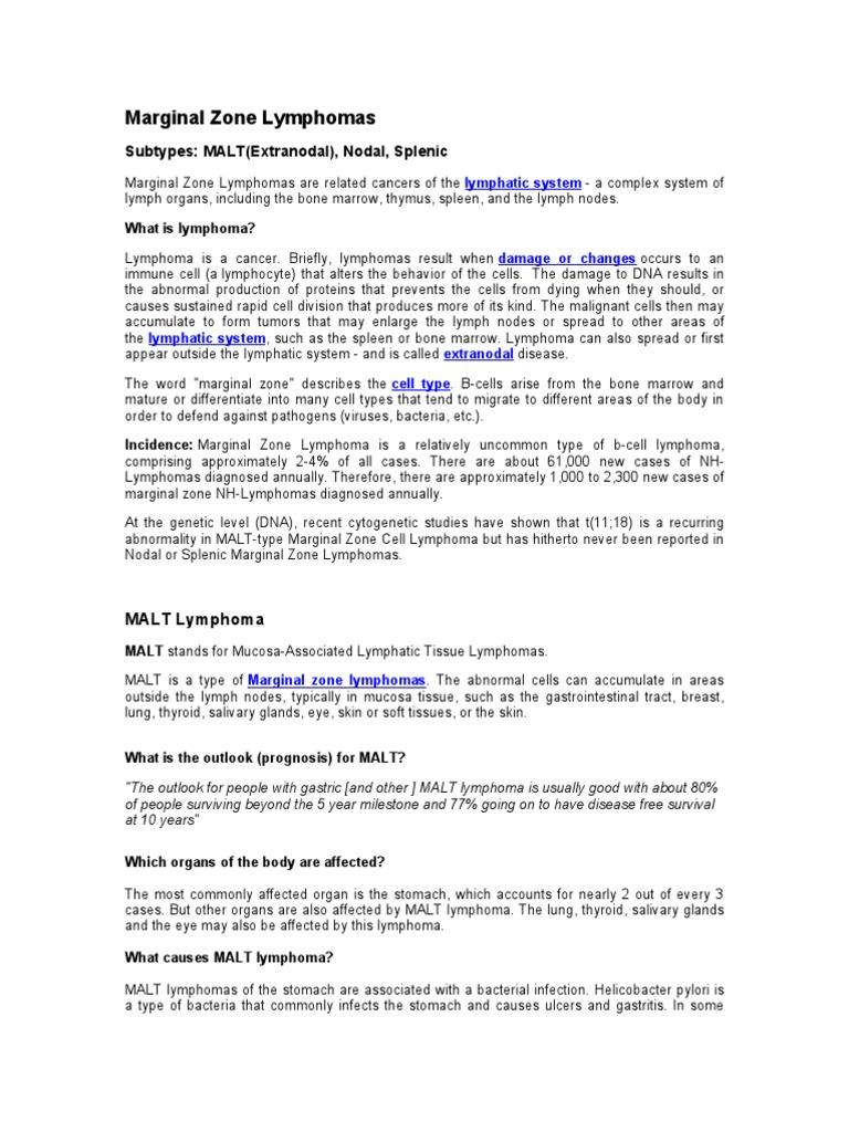 MZL | Lymphatic System | Lymphoma