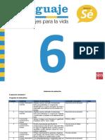 TablaEspecificacionEvaluacionTipoSimce1Lenguaje6