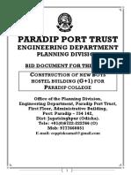 EC 1,46,05,187.66   Construction of New Boys Hostel Building for Paradip College-Paradip Port Trust