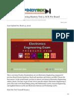 pinoybix.org-Electronics Engineering Mastery Test 5 ECE Pre-Board