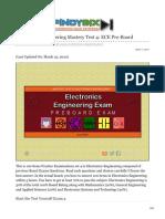 pinoybix.org-Electronics Engineering Mastery Test 4 ECE Pre-Board