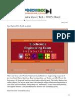 pinoybix.org-Electronics Engineering Mastery Test 1 ECE Pre-Board