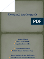 fOrmateO de cOmputO