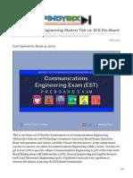 pinoybix.org-Communications Engineering Mastery Test 10 ECE Pre-Board