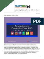 pinoybix.org-Communications Engineering Mastery Test 12 ECE Pre-Board