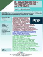 Formation Continue Proprietes Mecaniques Des Polymeres a l'Etat Solide 2011