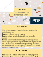 The Human as an Embodied Spirit