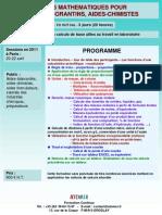 Formation Continue Outils Mathematiques Pour Aides-laborantins 2011