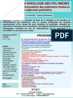 Formation Continue Initiation Rheologie Des Polymeres Fondus 2011