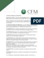 RESOLUÇÃO CFM Nº 1.958, DE 15 DE DEZEMBRO DE 2010