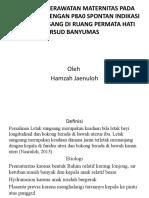 Presentation maternitas hamzah