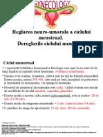 Dereglarile Ciclului Menstrual