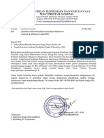 Pengumuman Perubahan jadwal Pendaftaran Pilmapres