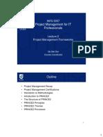 PMITP Lecture 02 - Project Management Frameworks 2 Slide Per Page (1)