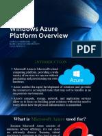 Windows Azure Platform Overview