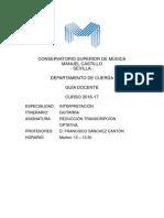 Guitarra Reduccion transcripcion - CSM Sevilla