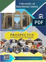 Masters Prospectus 2020