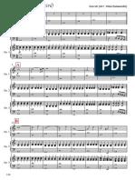 Ave Maria (Caccini) for 3 Harps - Full Score