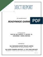 PROJECT REPORT - GARMENTS
