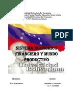 5eta Actividad. SISTEMA ECONOMICO FINANCIERO Y MUNDO PRODUCTIVO