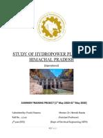 STUDY OF HYDROPOWER PLANTS OF HIMACHAL PRADESH (1)