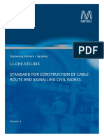 L1-CHE-STD-043 v1 - Construction of Cable Routes