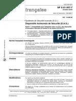 Dispositifs Actionnés de Sécurité (D.A.S.) NF S61-937-7 Date 01-10-2010