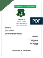 Land Law term paper