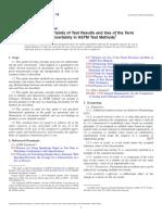 ASTM E2655 2014 Reportar incertidumbre resultados