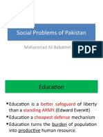 Social Problems of Pakistan
