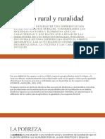 Espacio rural y ruralidad