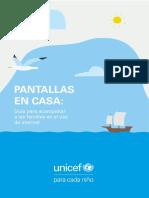 Pantallas en casa UNICEF