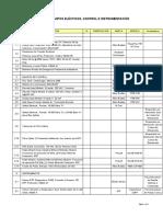 Listado de Equipos Electricos e Instrumentos