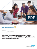 Migrating Time Data Integration from Legacy Software Component PA-SE-IN using Dell Boomi to Point-to-Point Integration