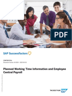 Planned Working Time Information and Employee Central Payroll