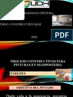 PROCESO CONSTRUCTIVOS PARA PINTURAS PARED. RAY LESTER