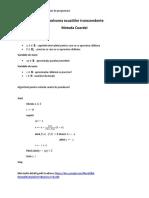 Laborator 01 - Metoda coardei