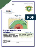 Cours de geologie generale