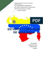 Estados y Capitales de Venezuela