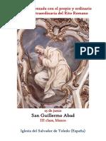 25 de Junio. San Guillermo Abad. Propio y Ordinario de la santa misa