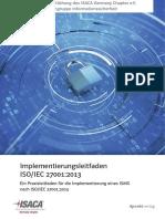 Ein Praxisleitfaden für die Implementierung eines ISMS nach ISO/IEC 27001:2013