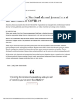 Pandemic press_ Stanford alumni journalists at the frontlines of COVID-19 _ Stanford News