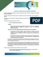 #FICADICA-Imposto de Renda 2020