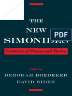 Deborah Boedeker, David Sider. The New Simonides