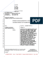 AmericanWest's Section 363 Filing