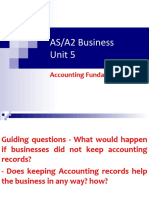 As-A2 Business Accounting Fundamentals
