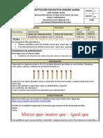 Taller de matematicas grado 1° Deiris Del Rio junio