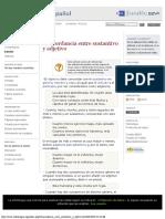 Concordancia entre sustantivo y adjetivo - Wikilengua
